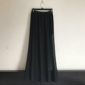 H&M Divided Sheer Layered Maxi Skirt